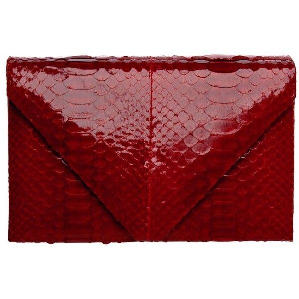 Red Python Envelope from Polyvore...dare to be different!  :)Fashion Bags, Hunting Seasons, Seasons Web, Bags Clutches, Red Clutches, Clutches Handbags, Python Envelopes, Clutches Pur, Envelopes Clutches
