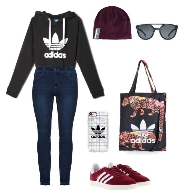 Wintery adidas outfit by hemuliini on Polyvore featuring polyvore, fashion, style, adidas, Casetify, Topshop and clothing