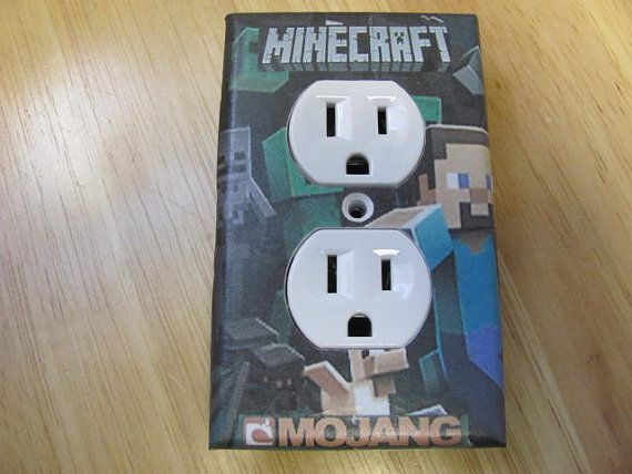 MineCraft Video Game Plug Outlet Cover Home by PhotosByBen on Etsy, $5.00