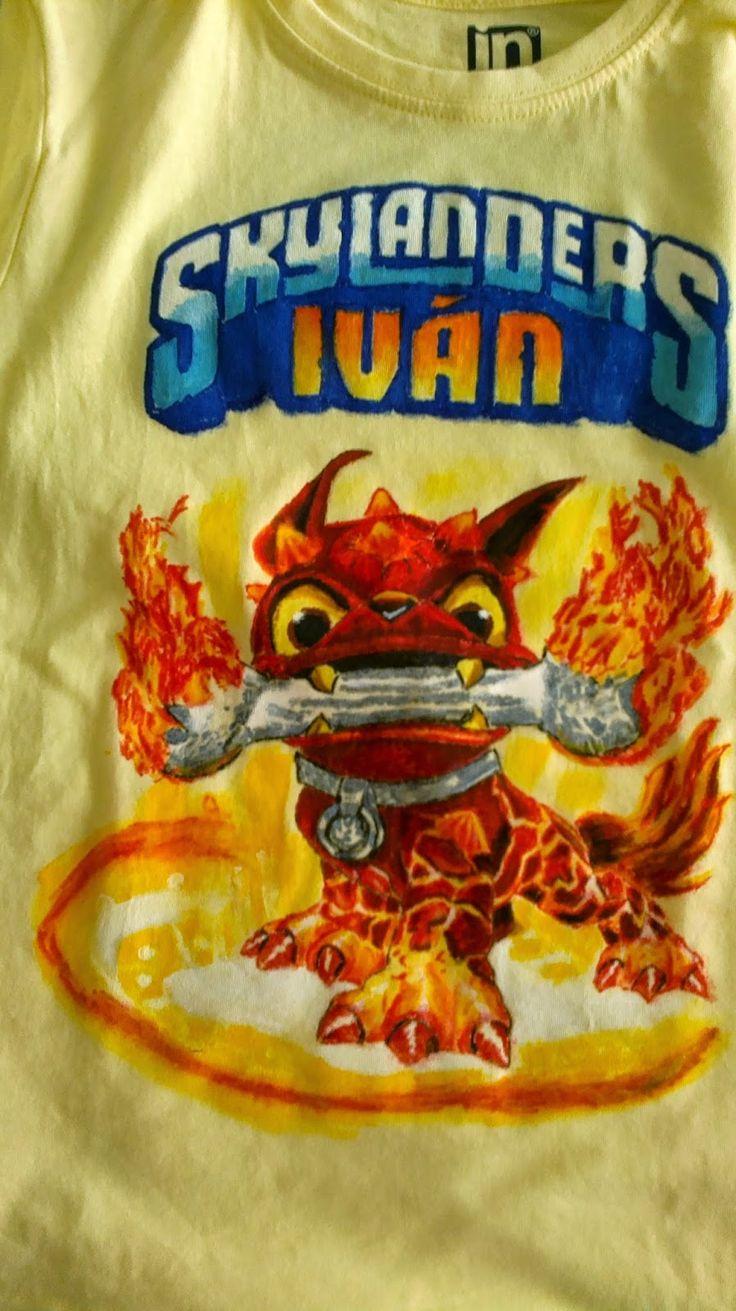 Camiseta skylanders