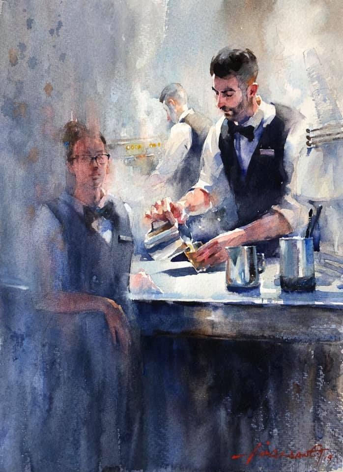 Lisa Wang Watercolour On Paper By Lisa Wang Aquarelle Art