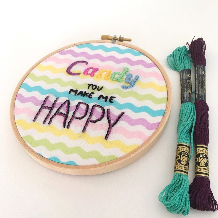 New hoop art in the shop. I think I need some candy now! 😄