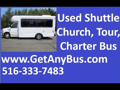 Used Buses For Sale in Maine | Call 844-612-7122 | 2010 Ford E450 Non-CDL Wheelchair Shuttle Bus