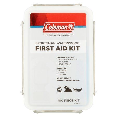 Coleman The Outdoor Company Sportsman Waterproof First Aid Kit 100 Piece Kit, White