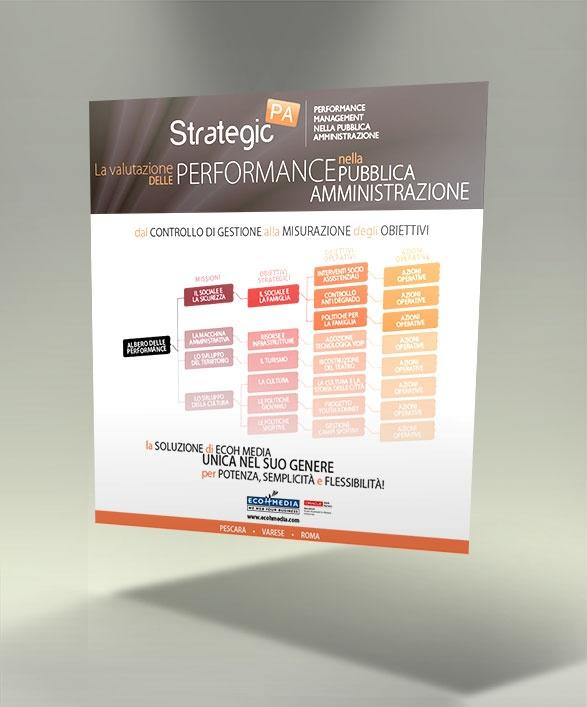 Il poster su Strategic PA, l'applicativo per la valutazione delle performance nella pubblica amministrazione