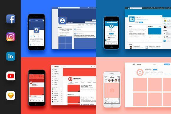 Social Media Branding Kit Social Media Branding Social Media Template Instagram Mockup