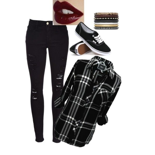 Untitled #32 by zuzulica on Polyvore featuring Rails, Frame Denim, Vans, Yves Saint Laurent and Charlotte Tilbury