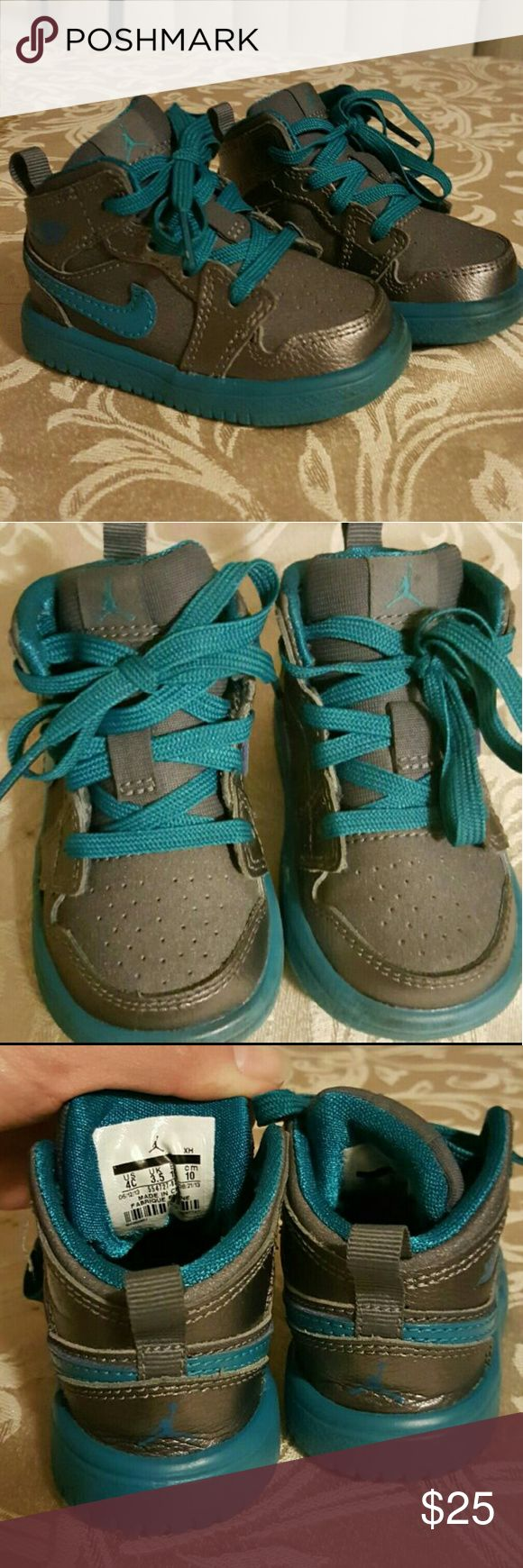 Teal baby jordans infant shoes Great condition... no box. Nike Shoes Baby & Walker