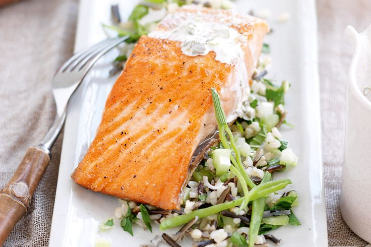 Boost+your+intake+of+wholegrain+goodness+with+a+delicious+and+nutritious+meal+of+ocean+trout+with+wild+rice+salad.