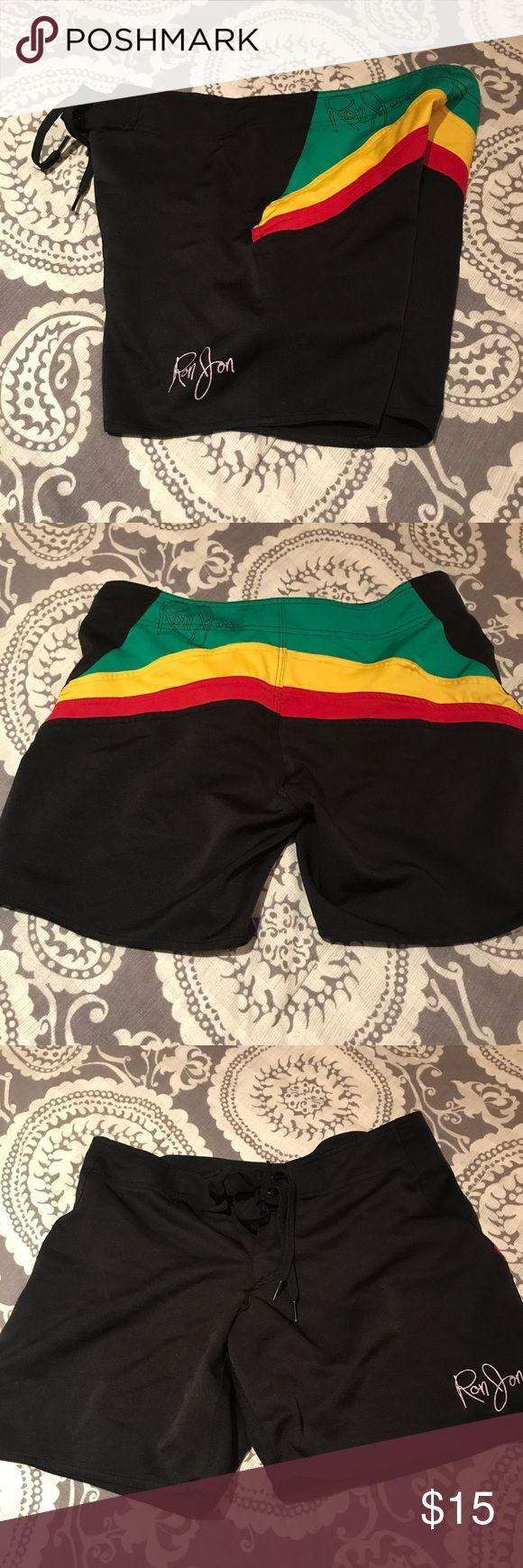 Ron Jon Rasta swim shorts  excellent condition size 5 Ron jon surf shop swim trunks ron jon surf shop Swim