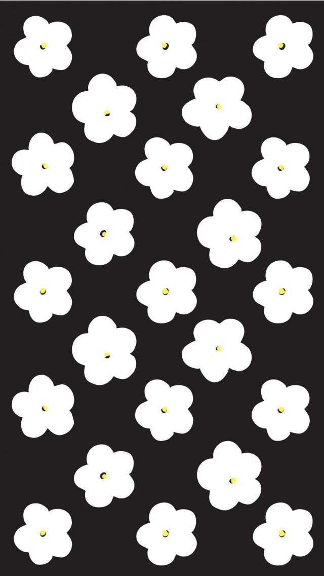 Black White Floral IPhone Wallpaper Tap To See More Pattern Wallpapers And Lock