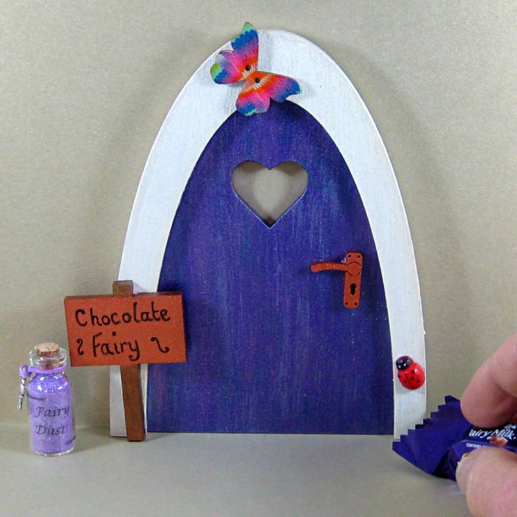 Fairy door for chocolate lovers, chocoholic gift, gift for her, fairies, gift for friend, unusual present by SunCottageCreations on Etsy