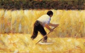 The Mower - Georges Seurat