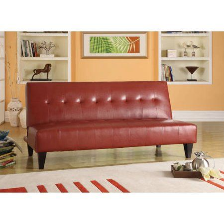 Faux Leather Bycast Adjustable Futon Sofa, Multiple Colors - Walmart.com