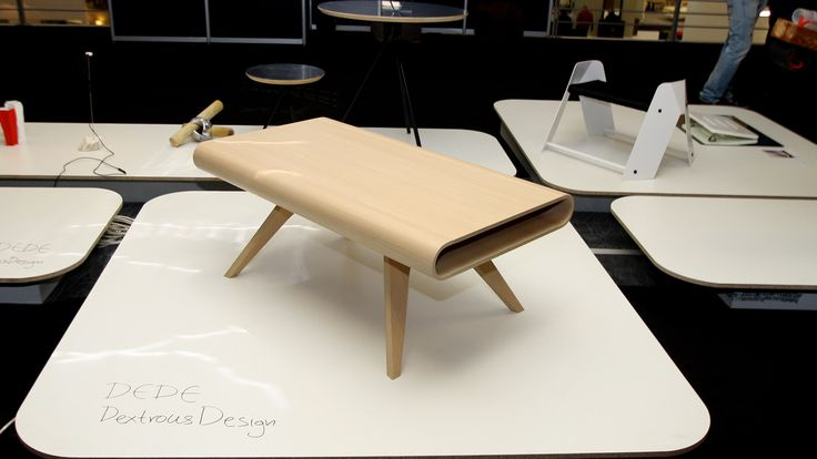 Tabrio is a plywood coffee table with benefits!