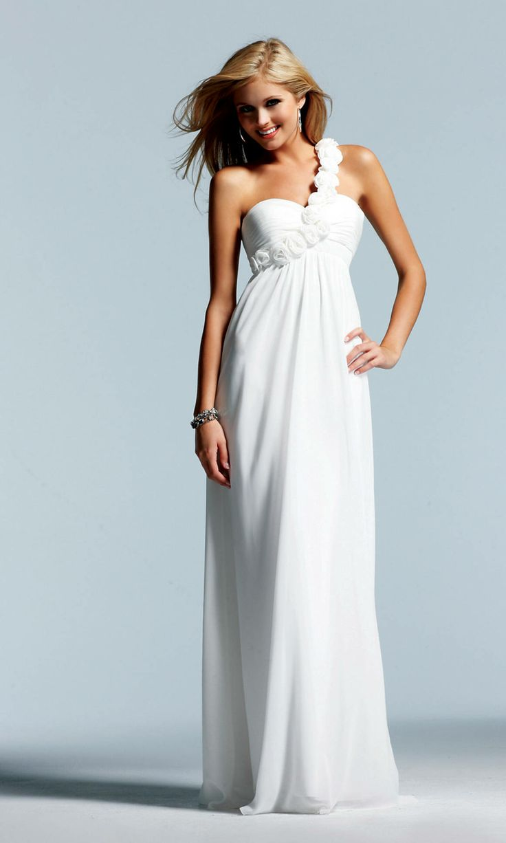 one sleeve white prom dress | Dress images