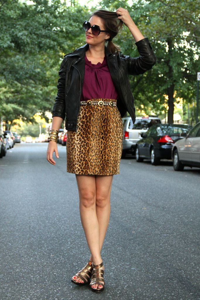 awesome color combo golden and magenta definitely wanting to try some animal print