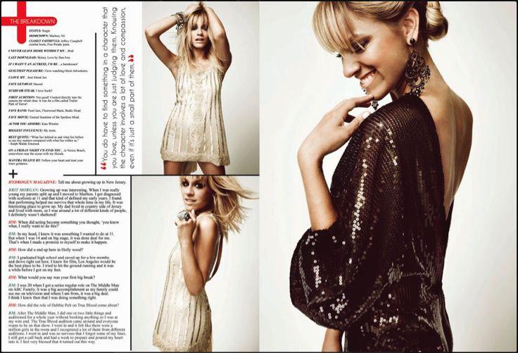 #Brit Morgan #Hydrogen Magazine Love this...