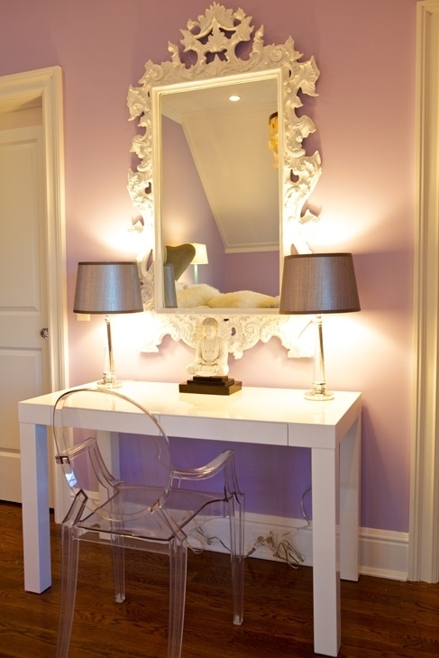 love this setup. lavender and white