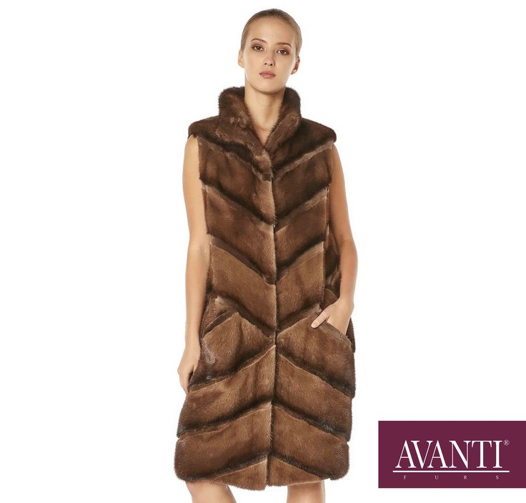 AVANTI FURS - MODEL: BOZENA MINK VEST with Mink Silk details #avantifurs #fur #fashion #fox #luxury #musthave #мех #шуба #стиль #норка #зима #красота #мода #topfurexperts
