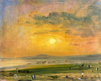 Shoreham Bay, Evening Sunset - John Constable   *famous for his accuracy in depicting cloud variations