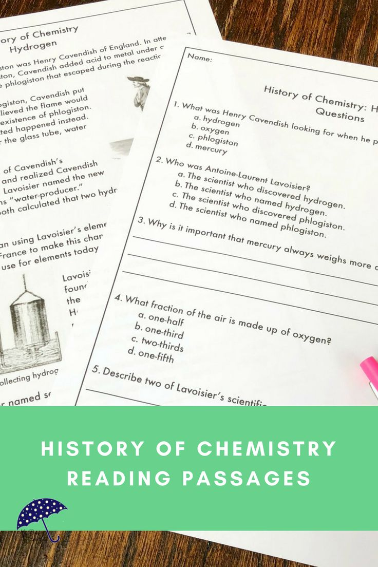 Are you teaching middle school or upper elementary chemistry? Do some of your students need a little extra help? Understanding the history of chemistry can help students understand the concepts you are teaching. Using reading passages is an opportunity for cross-curricular instruction with science, social studies, and reading. Learn all about how hydrogen was discovered! A great example of the scientific method in action. Click to see more!