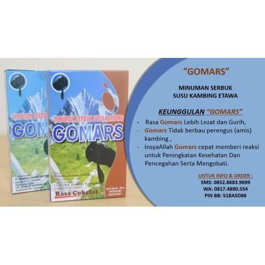 GOMARS(MINUMAN SERBUK KESEHATAN) Keunggulan Susu kambing Etawa GoMars :