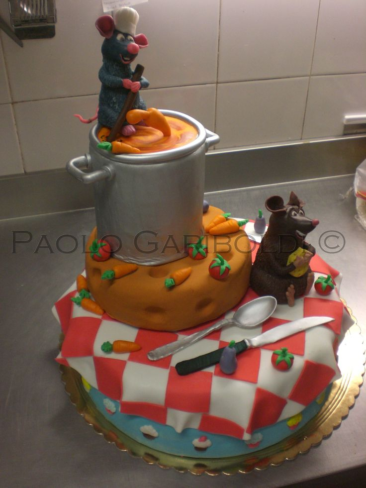 Disney Ratatouille cake. Please take a look about others beautiful ideas on my board. Ciao Paolo Gariboldi.