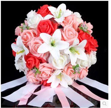Pas cher 2015New de mariage Bouquet de mariée demoiselle d'honneur blanc / Rose / rouge / violet coloré artificielle fleur Rose Bouquets de mariée buque de noiva, Acheter  Bouquets de mariage de qualité directement des fournisseurs de Chine:       Bienvenue