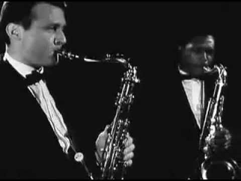 John Coltrane and Stan Getz together is rare. Recorded in Germany 1960. Oscar Peterson piano. Paul Chambers bass, Jimmy Cobb drums.