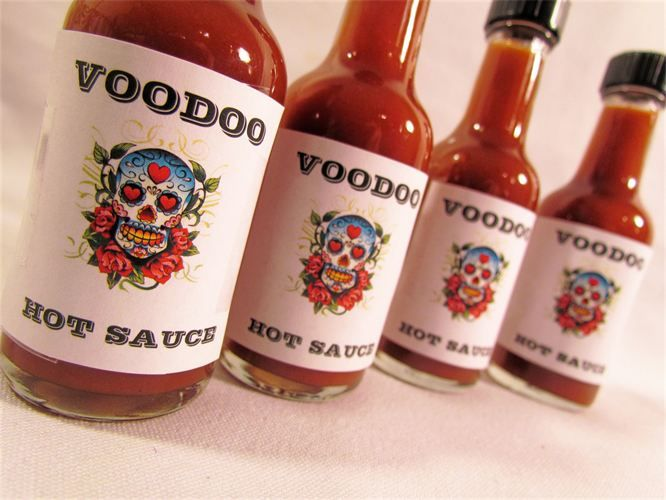Voodoo Love New Orleans Wedding Favors With Hot Sauce