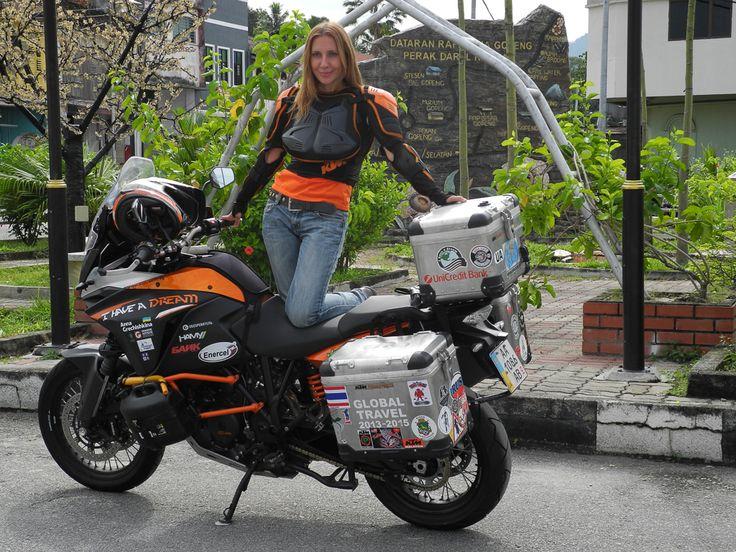 Ukraine Woman Globe Trotter On Her Ktm 1190 Adventure