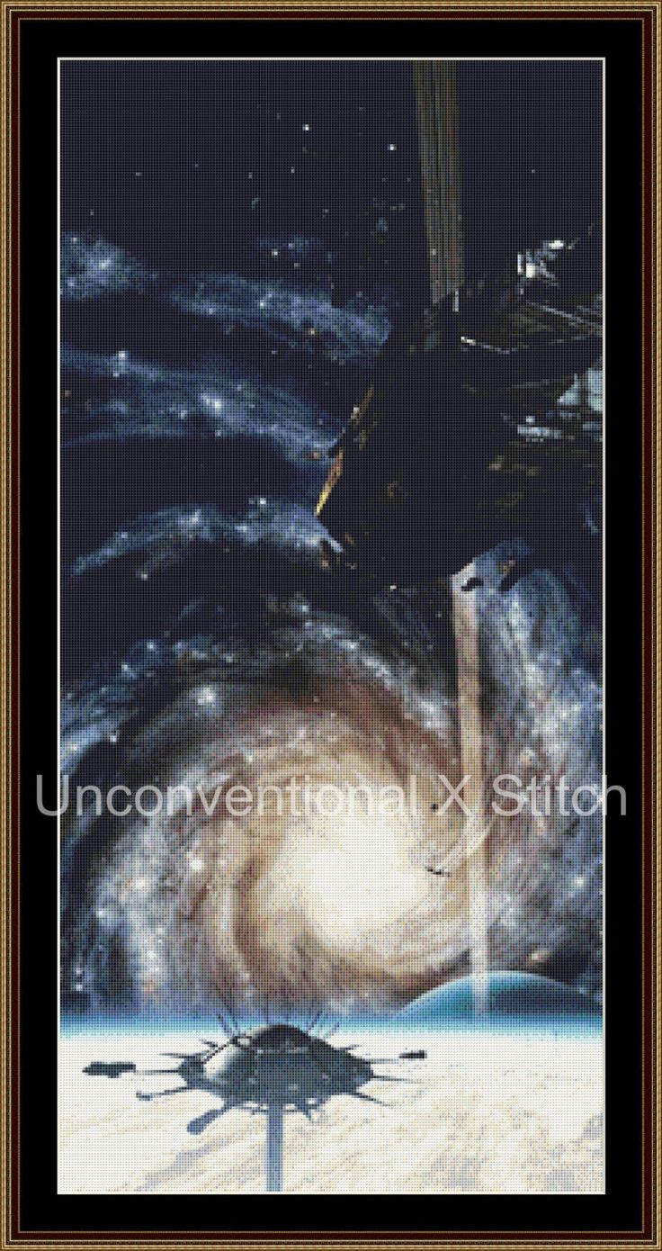 Reach space fantasy astronomy cross stitch pattern by UnconventionalX on Etsy
