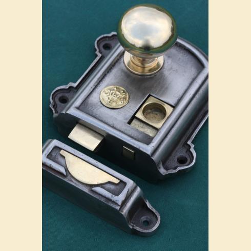 Iron & Brass Rim Lock Victorian with brass cottage rim door knobs  https://www.priorsrec.co.uk/iron--brass-rim-lock-victorian/p-3-6-7-218 |  Design ... - Iron & Brass Rim Lock Victorian With Brass Cottage Rim Door Knobs