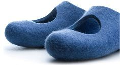 Felt slippers by Lahtiset in Finland. Repinned by www.mygrowingtraditions.com