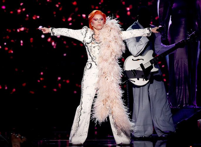 Watch Lady Gag's epic David Bowie performance from the Grammys.