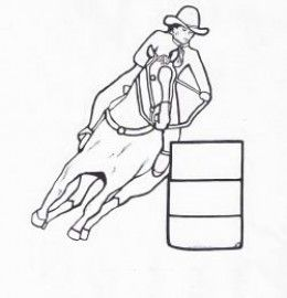 20 best horse riding images on pinterest horse riding for Coloring pages of horses barrel racing