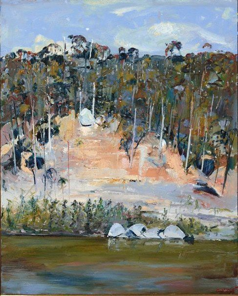 River bank and four rocks, Arthur Boyd