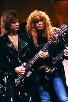 ~(RARE) CHRIS POLAND (ORIGINAL MEGADETH GUITARIST ) & DAVE MUSTAINE~