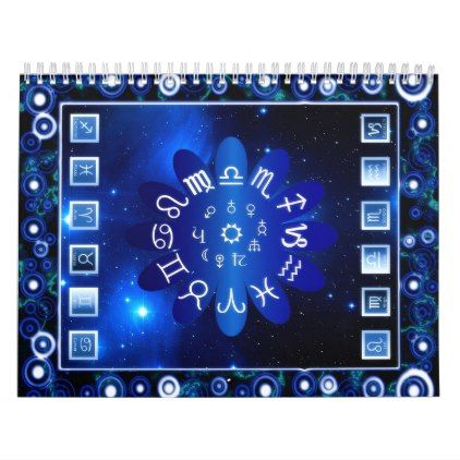 Astrological Calendar - pattern sample design template diy cyo customize