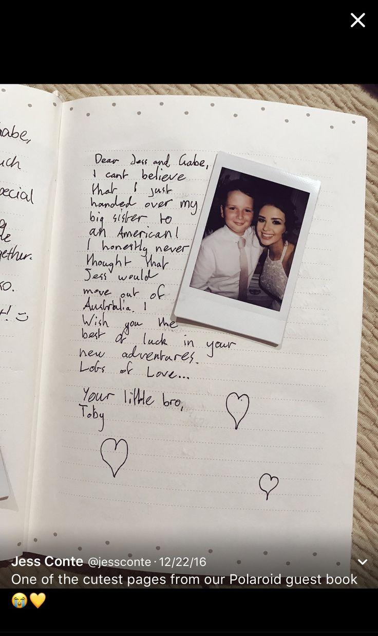 Polaroid guest book! So cute.