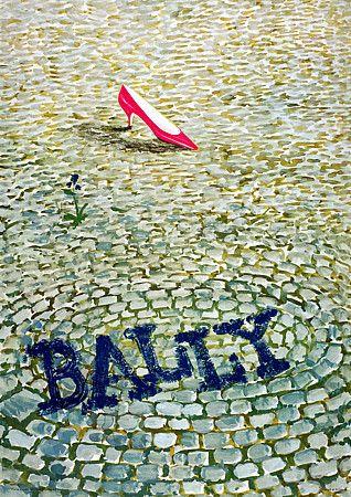So stylish.. One pink shoe says it all  http://www.vintagevenus.com.au/vintage/reprints/info/FAS251.htm