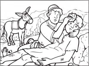 Bible colouring for kids: The Good Samaritan