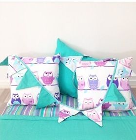 The Olive  Owl cushions