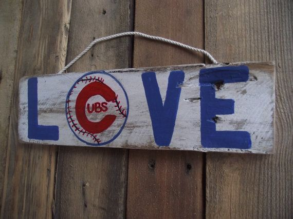 Cubs baseball sign  MLB sign  Sports pallet by DoolittleWoodArt