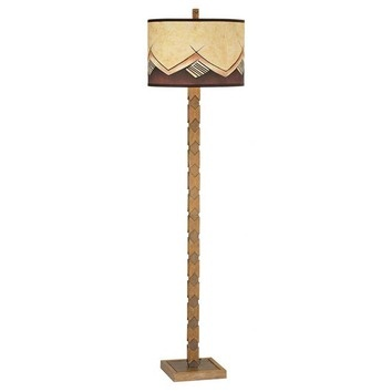 Pacific Coast Lighting Southwestern Spirit Floor Lamp in Maple