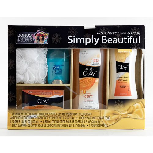 Olay Simply Beautiful Gift Set with Bonus Magazine Subscription (Value Saving $21)