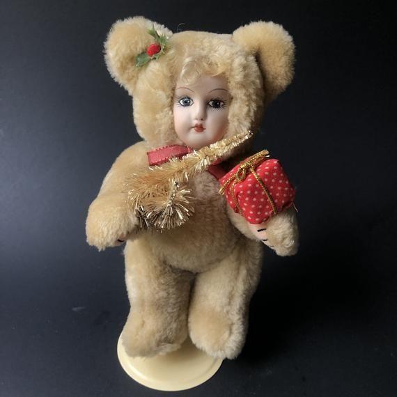 Vintage Burgandy Baby Doll Teddy S