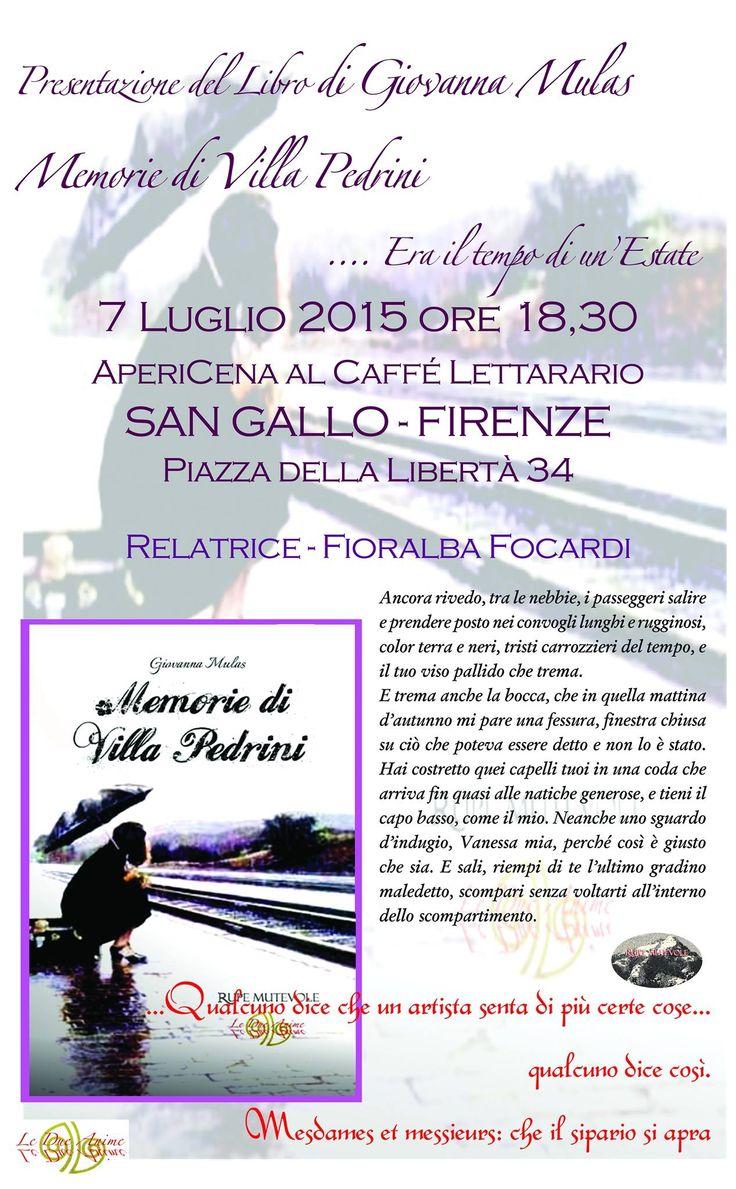 MEMORIE DI VILLA PEDRINI @ Firenze italy - 7-Luglio https://www.evensi.com/memorie-di-villa-pedrini-firenze-italy/153797845