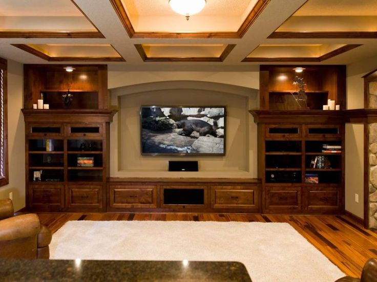 Architecture:Inspiring Basement Finishing Ideas Low Ceiling With Granite Countertops And Flat Screen Tv Plus Cabinets And Vanities Also Pendant Lighting As Well As White Fur Rugs And Laminate Wooden Floor The Coolest Basement Finishing Ideas for Your On – going Remodeling Basement